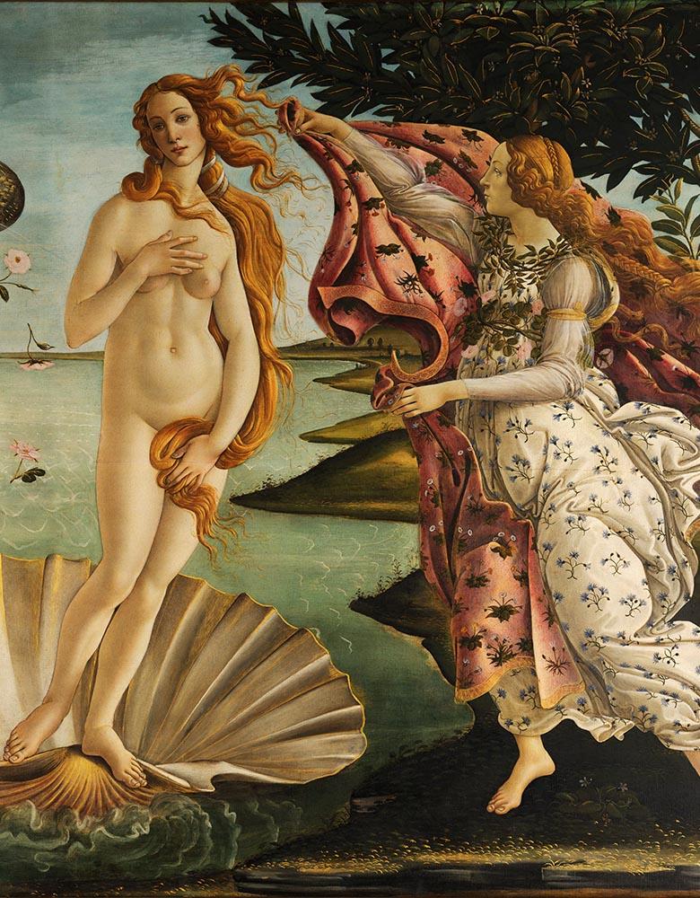 Renaissance Art. By Sandro Botticelli - Adjusted levels from File:Sandro Botticelli - La nascita di Venere - Google Art Project.jpg, originally from Google Art Project. Compression Photoshop level 9., Public Domain, https://commons.wikimedia.org/w/index.php?curid=22507491